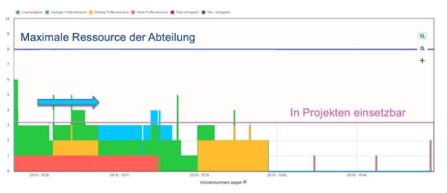 Grafische Darstellung der Projektlast
