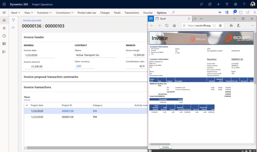 Microsoft Dynamics 365 Project Operations Projektabrechnung