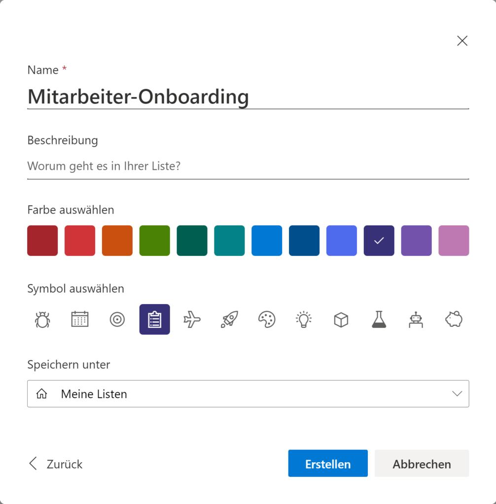 Microsoft Lists Benutzerdefinierte Gestaltung
