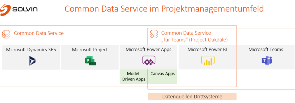 Common Data Service im Projektmanagementumfeld