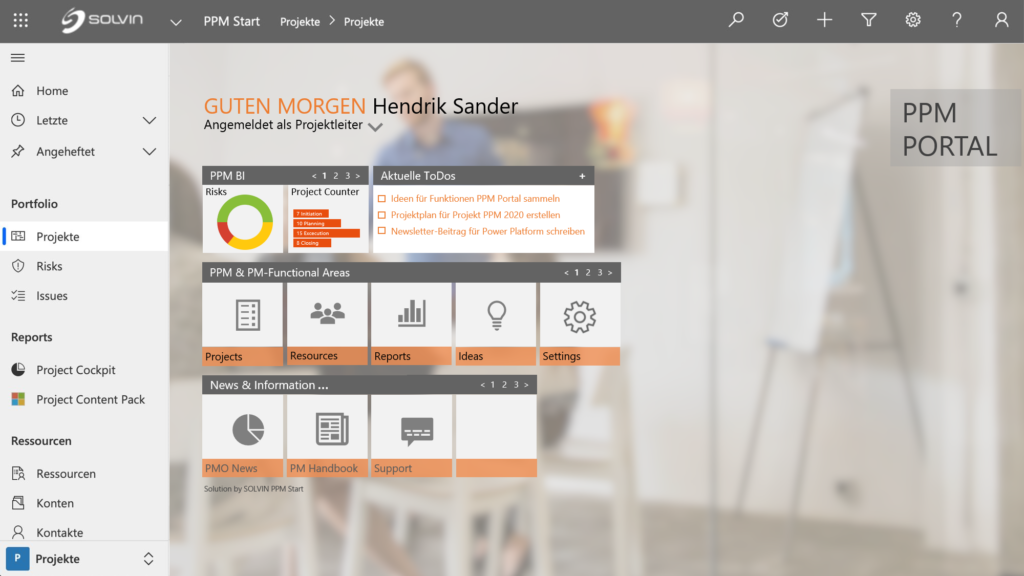 Microsoft Power Platform SOLVIN PPM Portal Website Slider