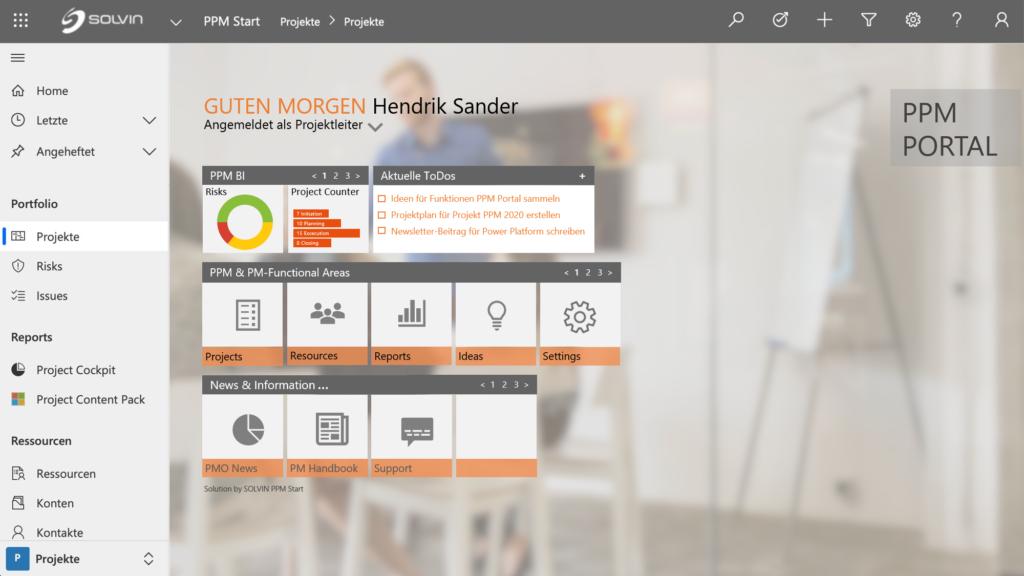 Microsoft Power Platform SOLVIN PPM Portal Website Slider