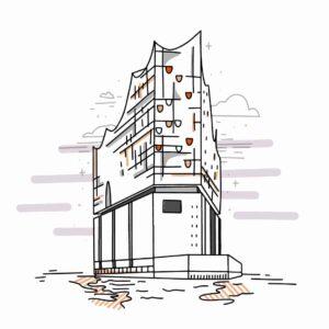 Illustration von der Elbphilharmonie Hamburg