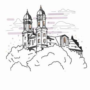 Illustration von der Schönenbergkirche Ellwangen