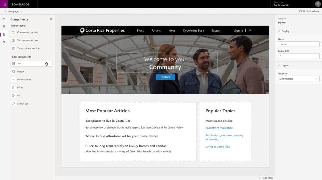 Microsoft Power Apps Portal Apps