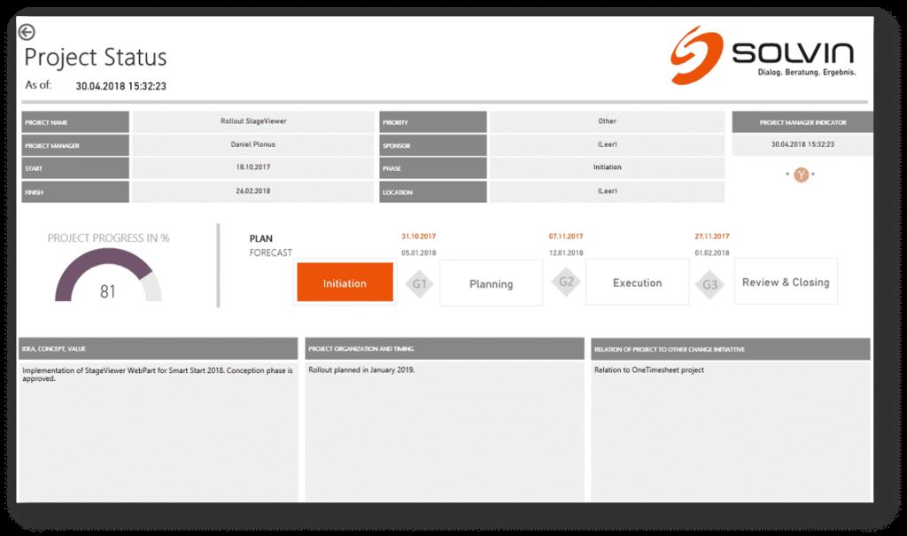 Screenshot Project Status